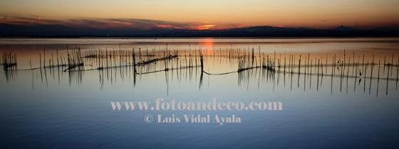 Atardecer panóramico lago de La Albufera