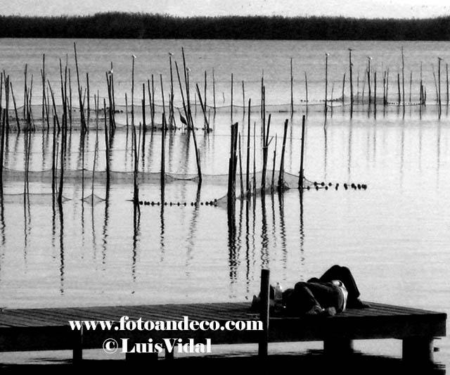 Atardecer en el lago. SerieAlbufera.